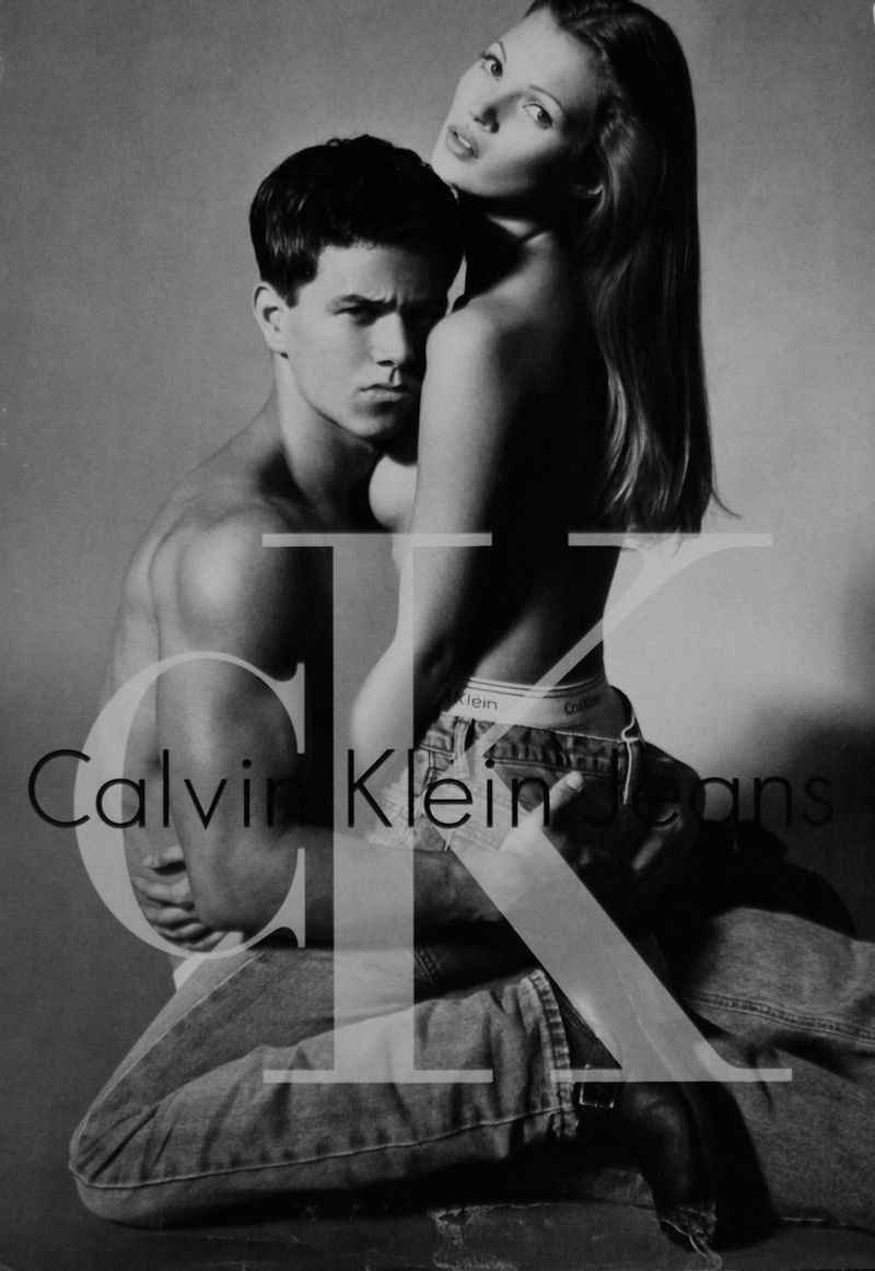 Kate Moss Mark Wahlberg CK